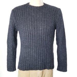 VTG Polo Ralph Lauren Gray Alpaca Sweater Sz L EUC